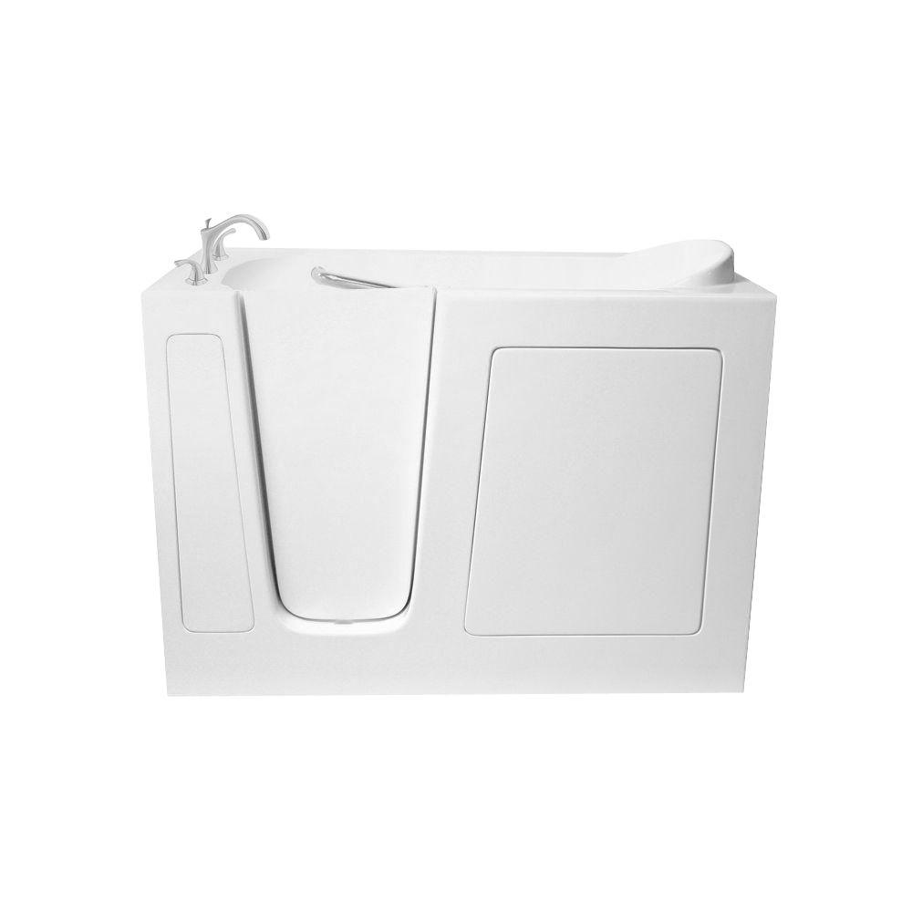 4 ft. Walk-In Whirlpool and Air Bath Tub in White