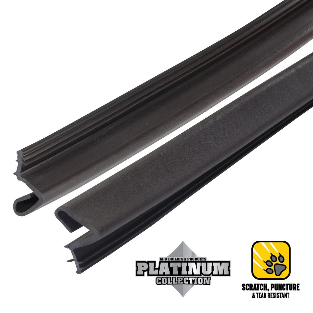 null 84 in. Platinum Brown Collection Door Weatherstrip Replacement