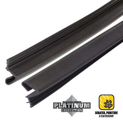 84 in. Platinum Brown Collection Door Weatherstrip Replacement