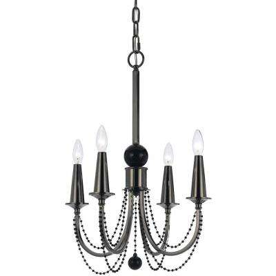 8447 4-Light Nickel Chandelier