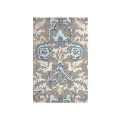 Penelope Duck Egg Blue Jacquard Chenille 27 in. x 45 in. Textured Accent Rug