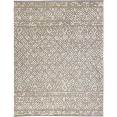 Tribal Essence Beige 7 ft. 10 in. x 9 ft. 10 in. Area Rug