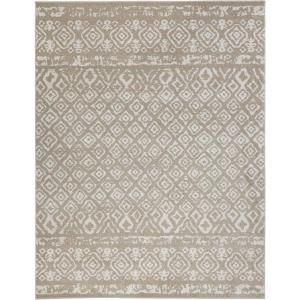 Tribal Essence Beige 9 ft. x 13 ft. Area Rug