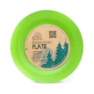 Bamboo 1-Piece Green Side Plate (6-Pack)