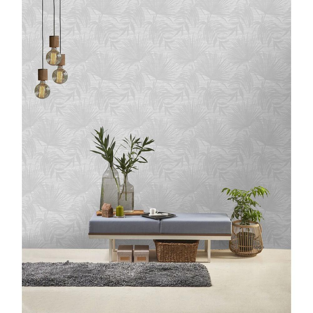 Grey Overgrown Botanicals Wallpaper