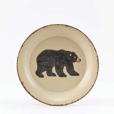 Rustic Retreat Tan Bear Salad Plate (Set of 4)