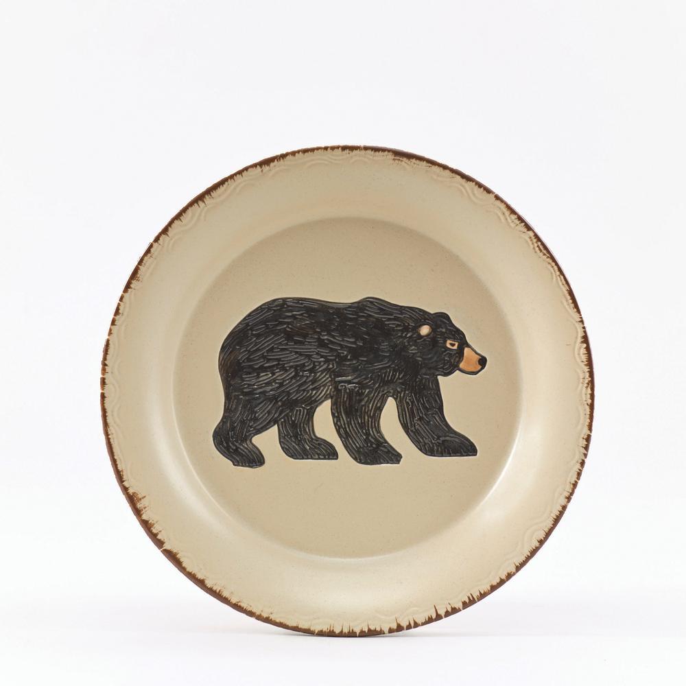 Rustic Retreat Tan Bear Salad Plate (Set of 4)