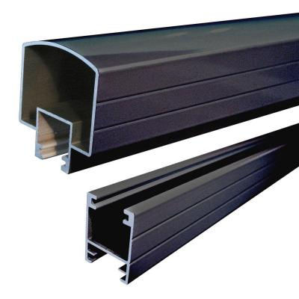 4 ft. Black Aluminum Hand and Base Rail
