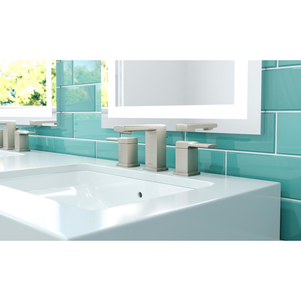 Deckard 8 in. Widespread 2-Handle Bathroom Faucet in Brushed Nickel