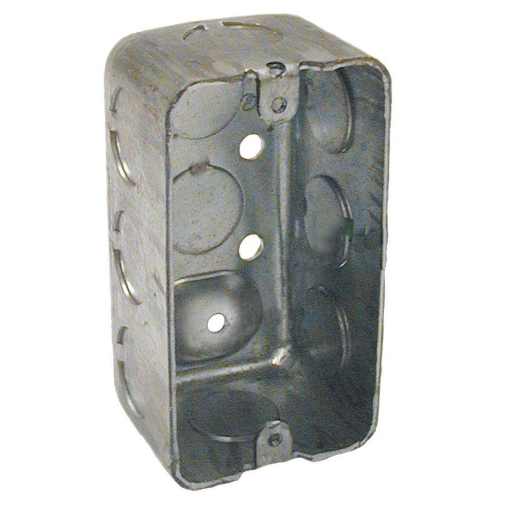 4 in. x 2 in. Drawn Handy Electrical Box, Raised Ground-8660 - The ...