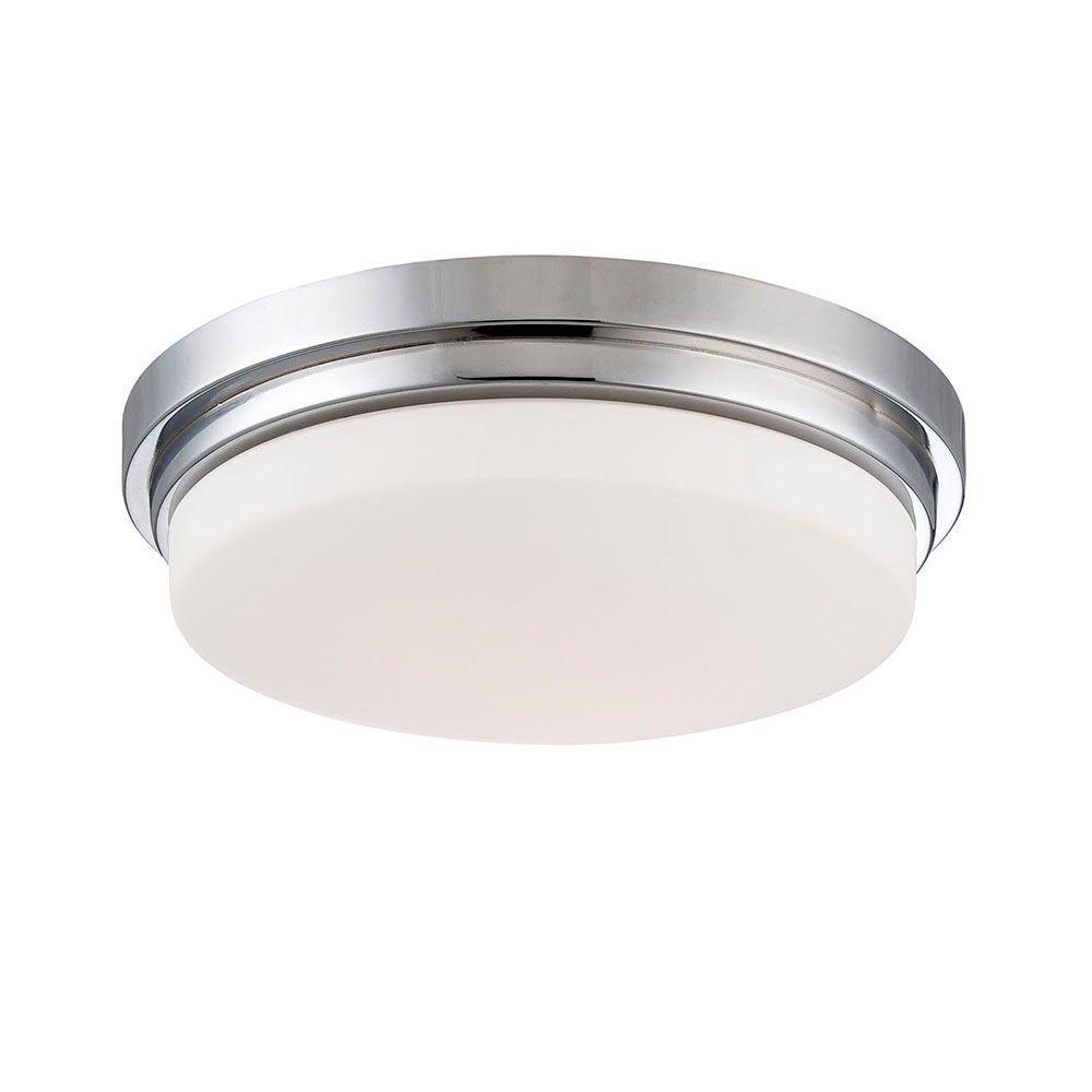 Wilson Collection 1-Light Chrome LED Flushmount