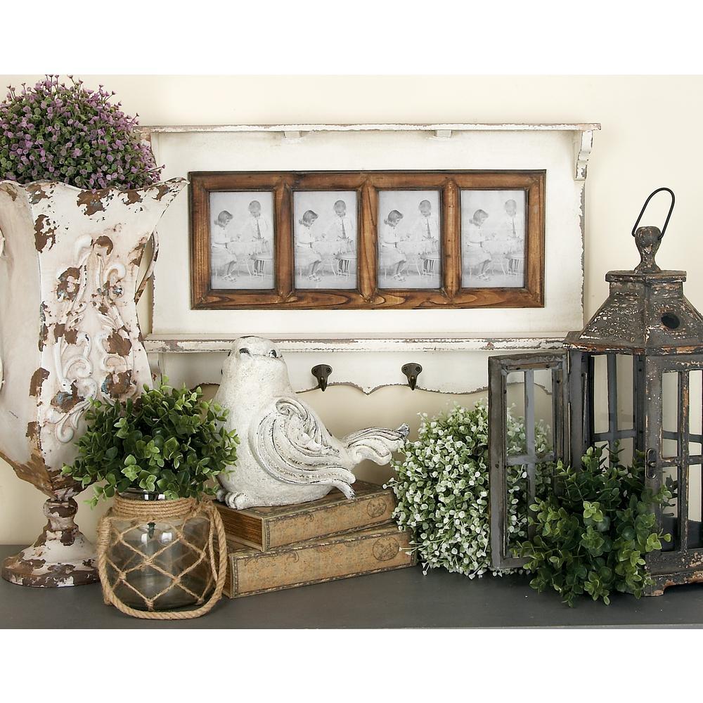 4-Opening Whitewashed Photo Shelf Hook