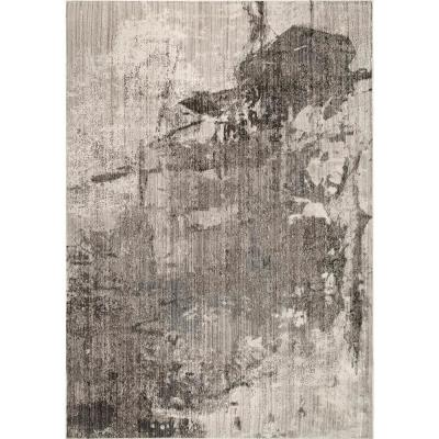 Rivera Abstract Light Brown 7 ft. x 9 ft.  Area Rug