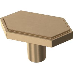 Elongated Hex 1-3/4 in. (44 mm) Champagne Bronze Cabinet Knob