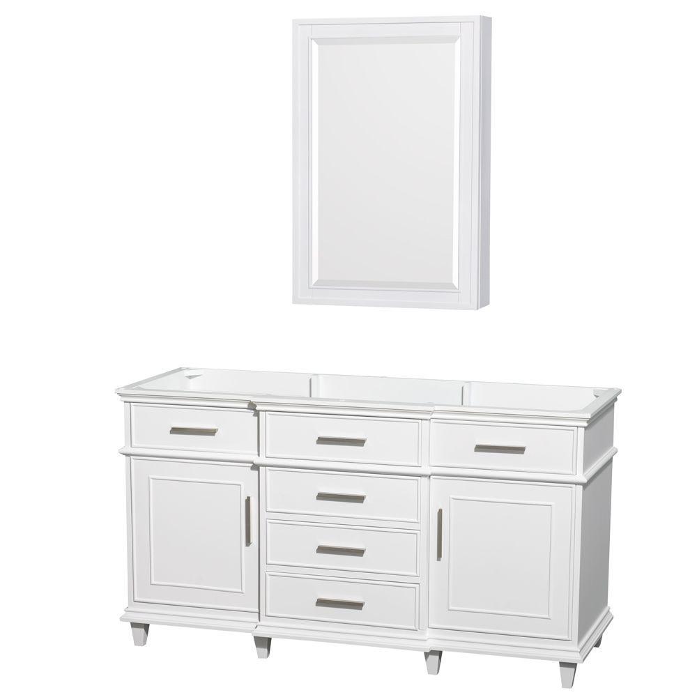 Berkeley 60 in. Vanity with Medicine Cabinet in White