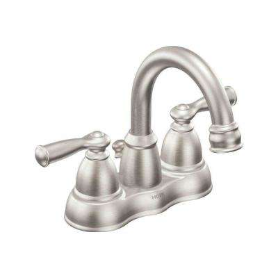 Banbury 4 in. Centerset 2-Handle High-Arc Bathroom Faucet in Spot Resist Brushed Nickel