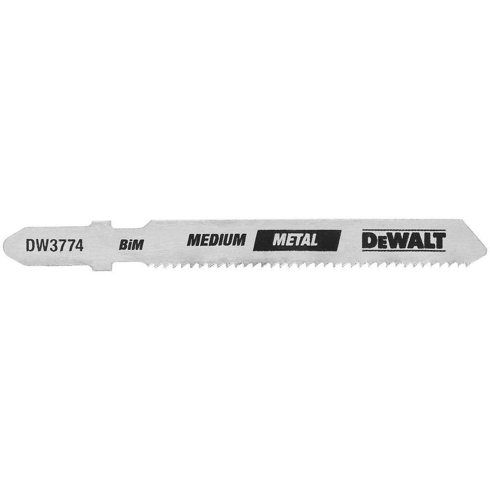 3 in. 18 TPI Medium Metal Cutting Jig Saw Blade Bi-Metal T-Shank (5-Pack)