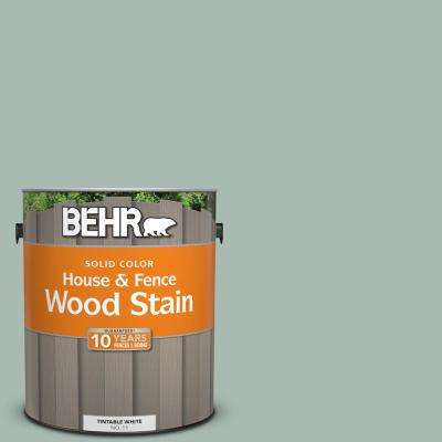1 gal. #BXC-85 Quiet Teal Solid Color House and Fence Exterior Wood Stain