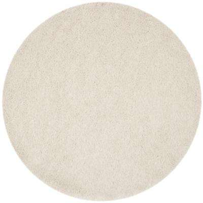 Venice Shag Pearl 8 Ft. X 8 Ft. Round Area Rug. Pearl; Champagne; Silver;  Taupe