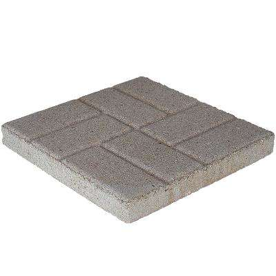16 in. x 16 in. x 1.77 in. Pewter Brickface Square Concrete Step Stone (84-Pieces/149 sq. ft./Pallet)