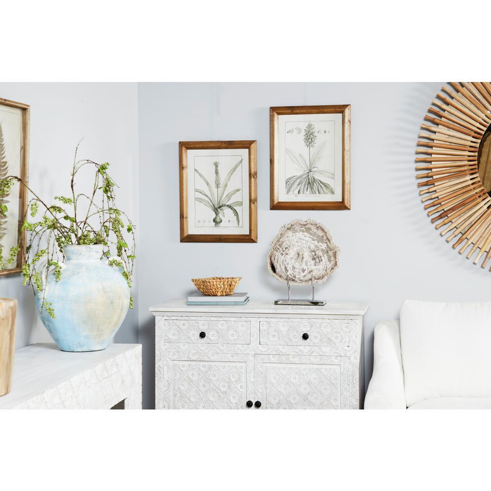 """Litton Lane """"Vintage Botanical Prints"""" Framed Wooden Wall Art (Set of 2)"""
