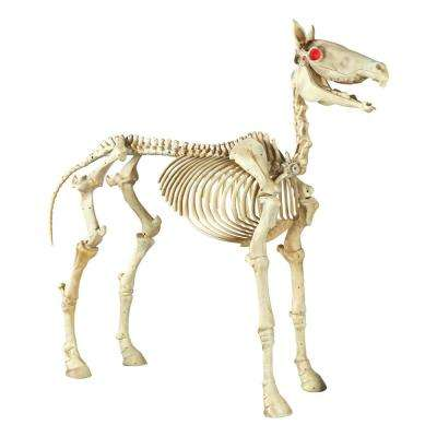 74 in. Halloween Standing Skeleton Horse