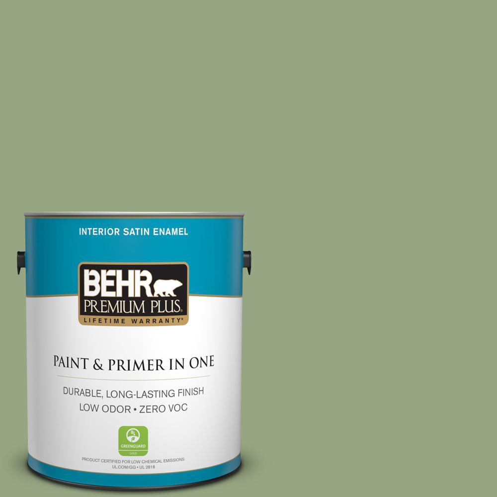 1-gal. #M380-5 Hillside Grove Satin Enamel Interior Paint