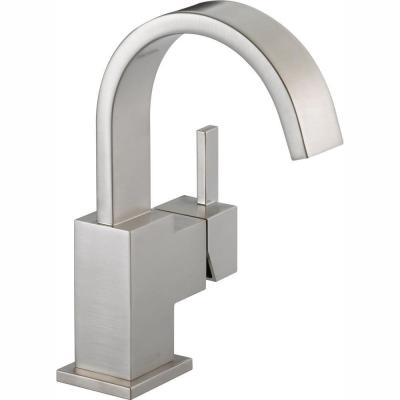 Vero Single Hole Single-Handle Bathroom Faucet with Metal Drain Assembly in Stainless