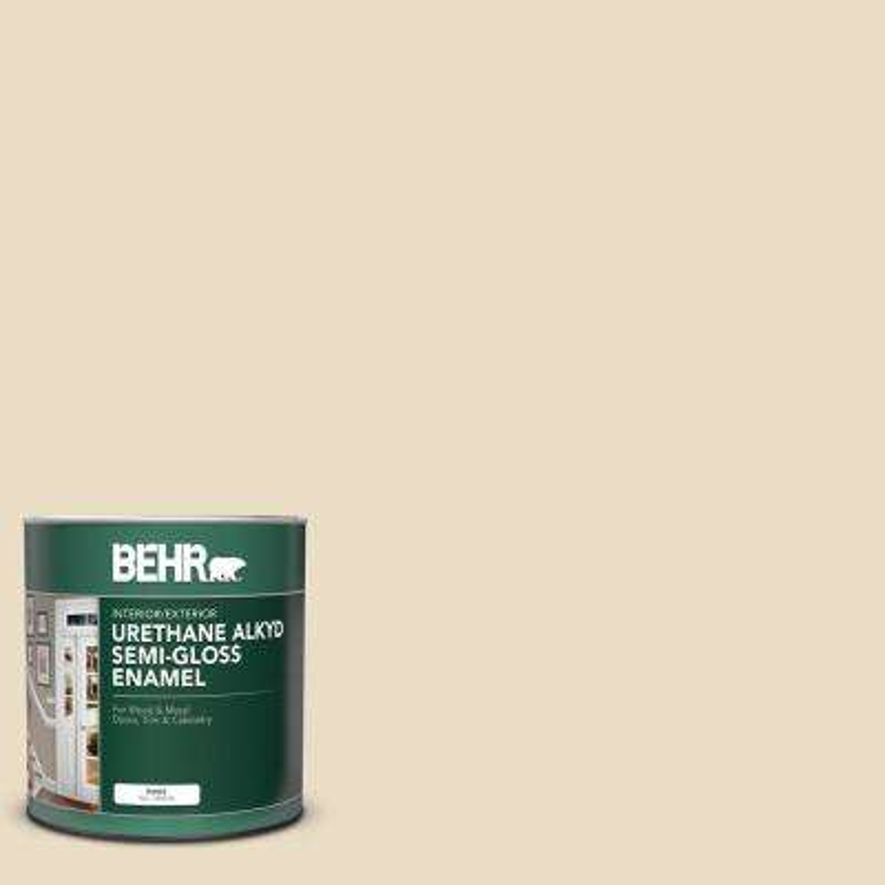 1 qt. #22 Navajo White Semi-Gloss Enamel Urethane Alkyd Interior/Exterior Paint
