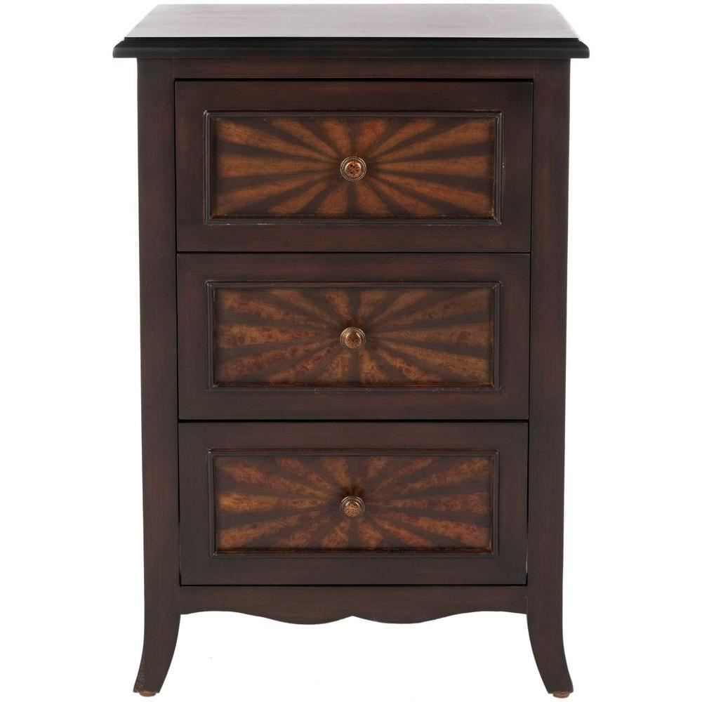 Safavieh Conrad Dark Cherry Side Table