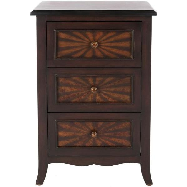 Conrad Dark Cherry Side Table
