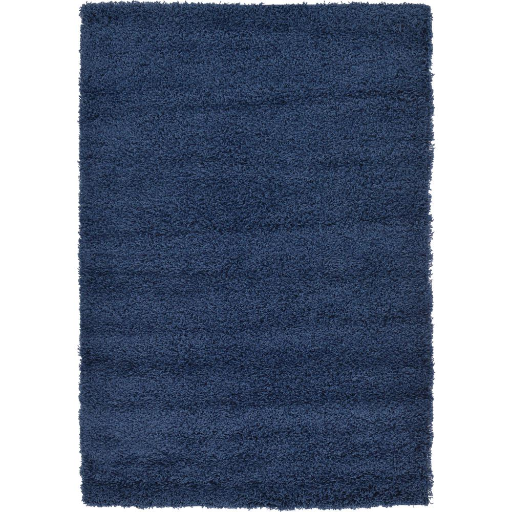 Unique Loom Solid Shag Navy Blue 4 X 6 Rug 3127894 The