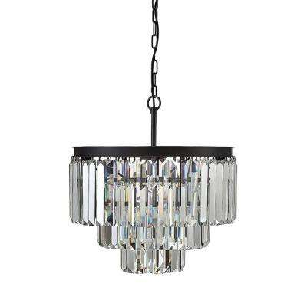 9-Light Crystal Chandelier