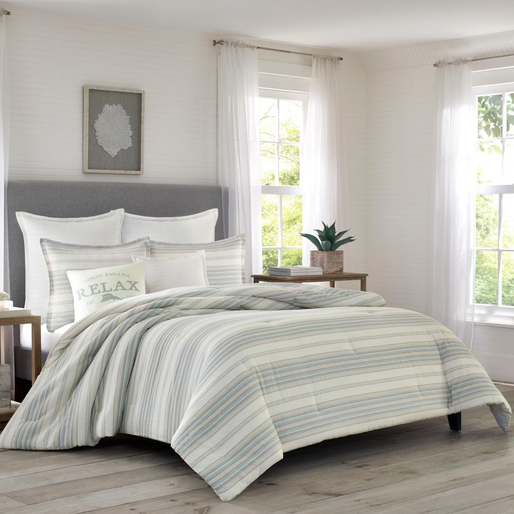 Beachside Stripe 3-Piece King Comforter Set
