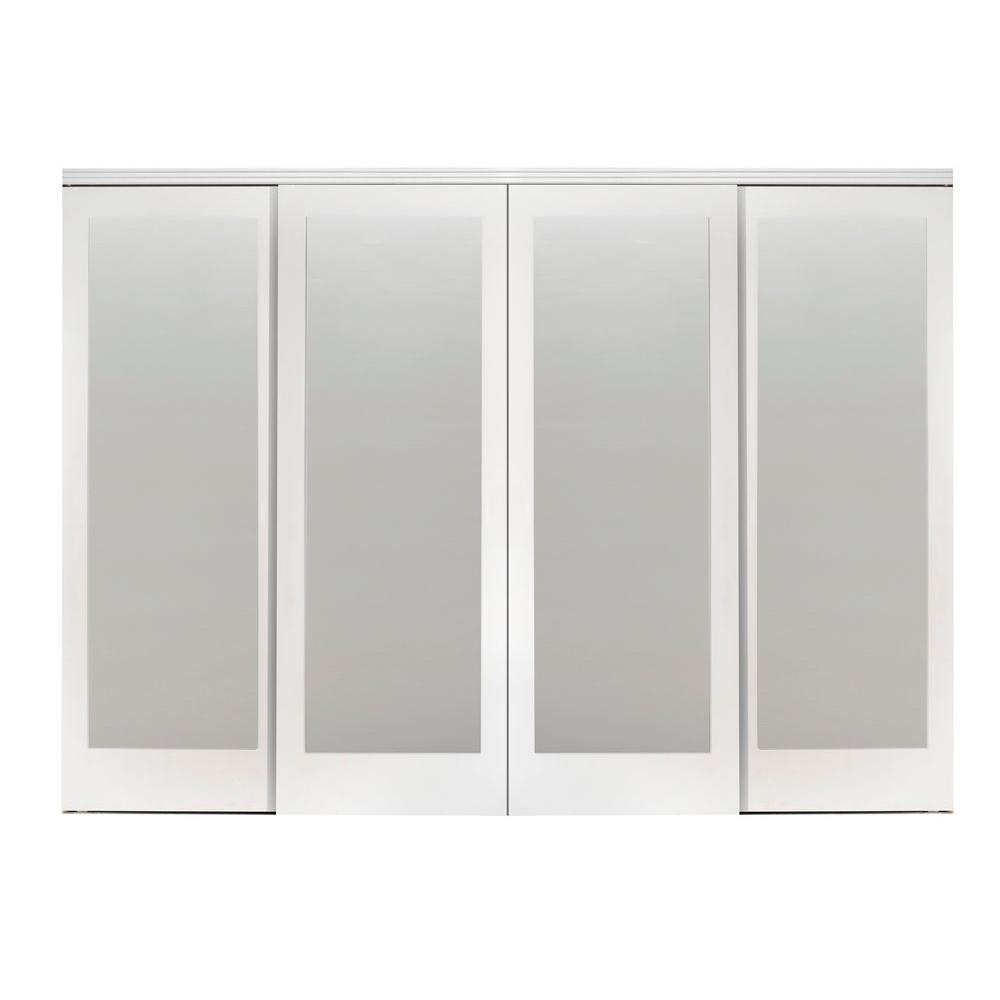 4 Panel Sliding Doors Interior Closet Doors The Home Depot
