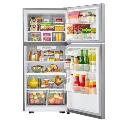 30 in. W 20.2 cu. ft. Top Freezer Refrigerator in Stainless Steel with Reversible Door