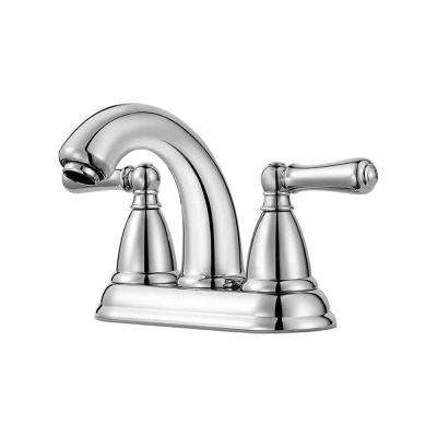 Canton 4 in. Centerset 2-Handle Bathroom Faucet in Polished Chrome