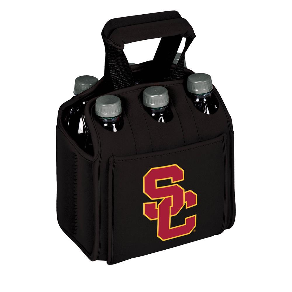 University of Southern California Trojans 6-Bottles Black Beverage Carrier