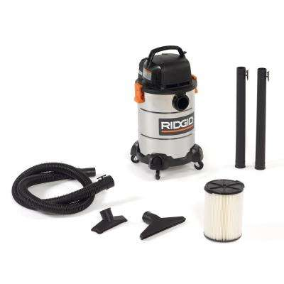 6 Gal. 4.25-Peak HP Stainless Steel Wet Dry Vac
