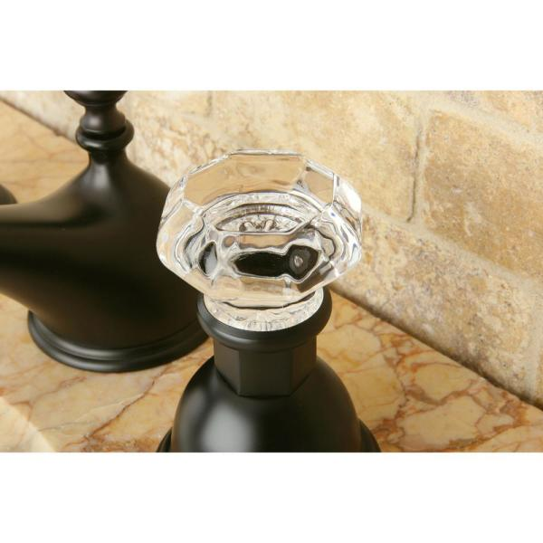 Kingston Brass Whitehurst Crystal 8 In Widespread 2 Handle Bathroom Faucet In Oil Rubbed Bronze 9303100280 The Home Depot