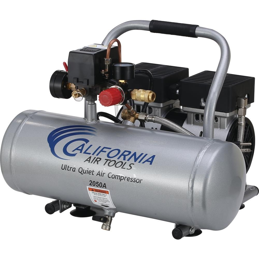 2.0 Gal. 1/2 HP Ultra Quiet and Oil-Free Aluminum Tank Air