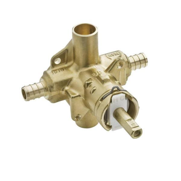 Brass Rough-In Posi-Temp Tub and Shower Valve - 1/2 in. Crimp Ring PEX Connection