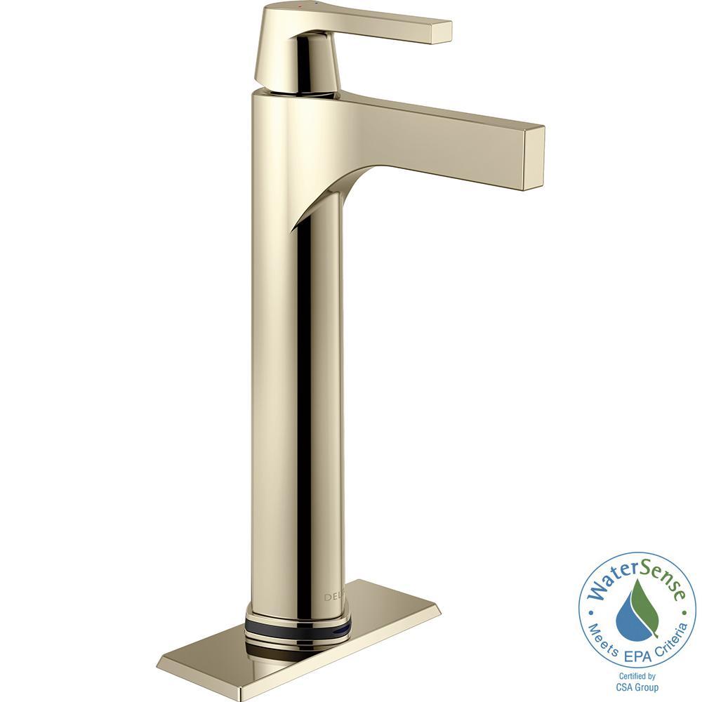 Zura Single Hole Single-Handle Vessel Bathroom Faucet with Touch2O.xt Technology