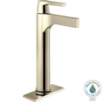 Zura Single Hole Single-Handle Vessel Bathroom Faucet with Touch2O.xt Technology in Polished Nickel