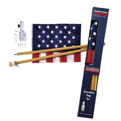 2-1/2 ft. x 4 ft. Nylon U.S. Flag Kit