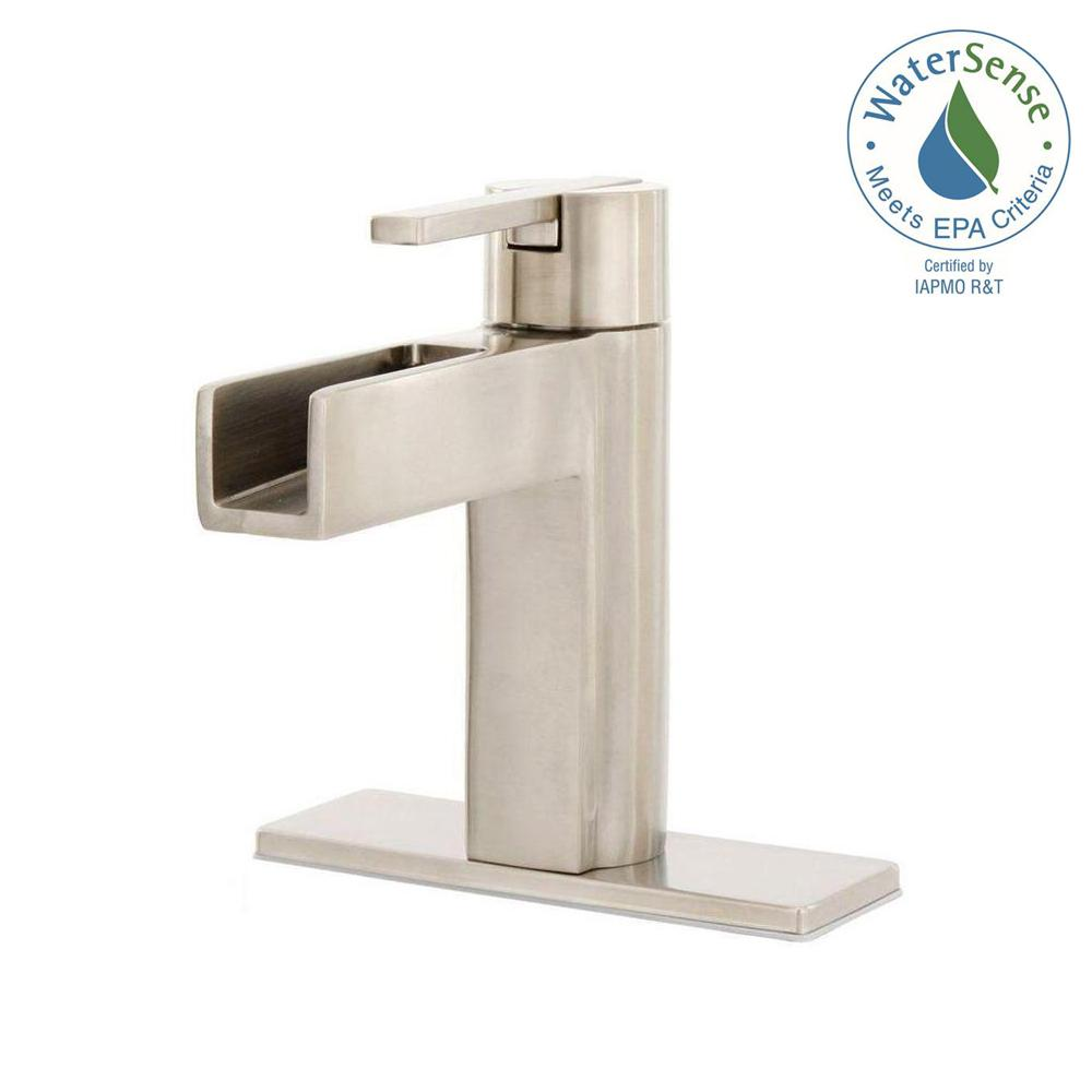 Pfister vega single hole single handle bathroom faucet in - Single hole bathroom faucets brushed nickel ...