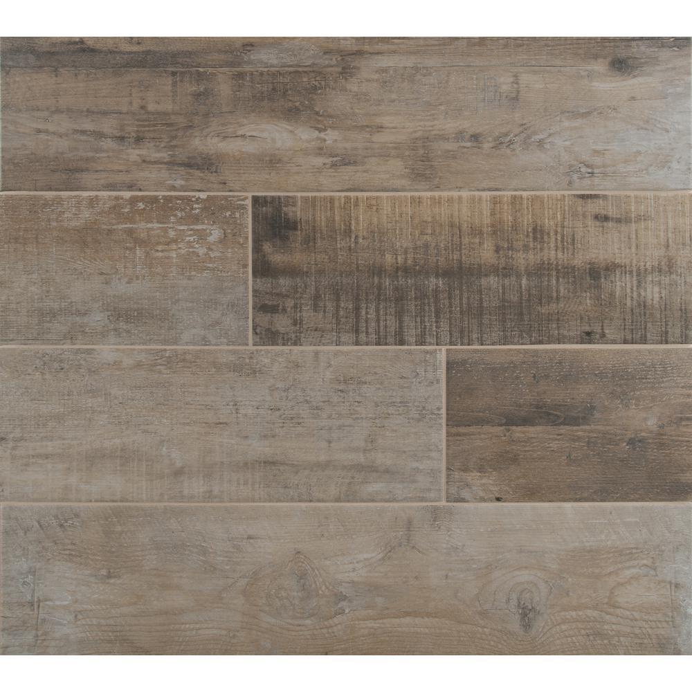 Barnwood Cognac 8 in. x 36 in. Matte Porcelain Floor and Wall Tile (20 cases / 280 sq. ft. / pallet)