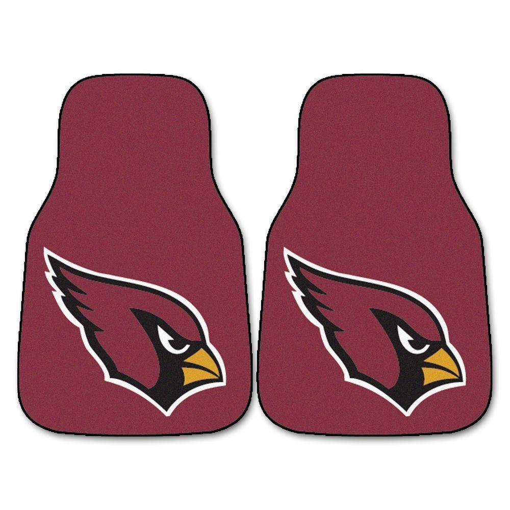 FANMATS Arizona Cardinals 18 in. x 27 in. 2-Piece Carpeted Car Mat Set