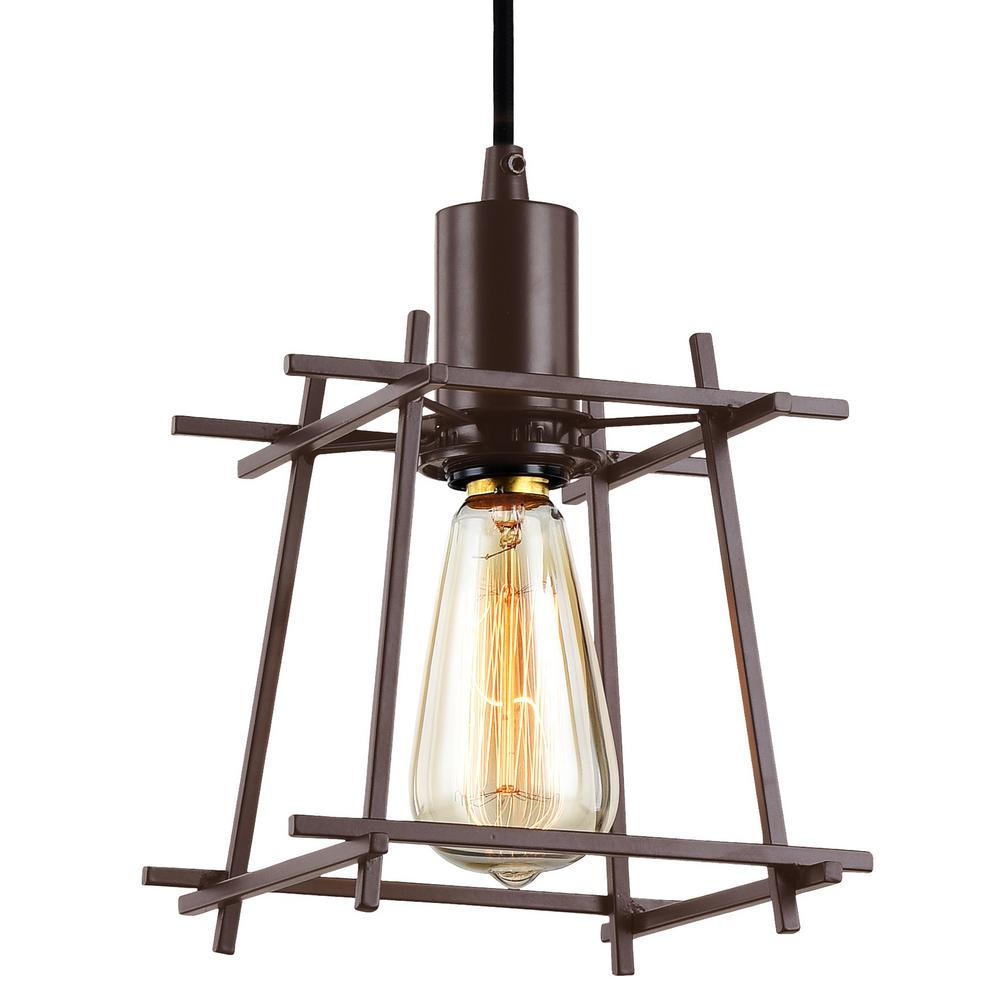 "Varaluz Hashtag 1-Light 7""W Mini Pendant"