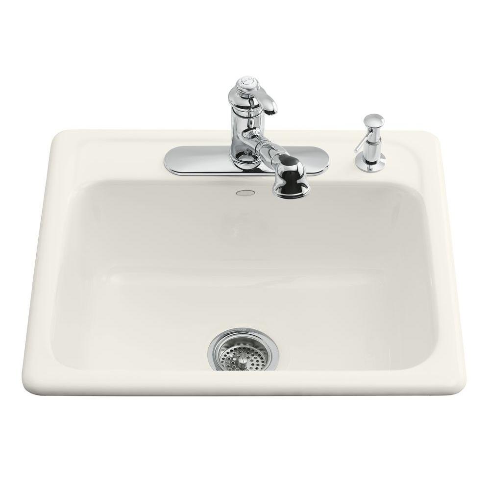 Kohler Northland Drop In Cast Iron 15 In 1 Hole Single Bowl